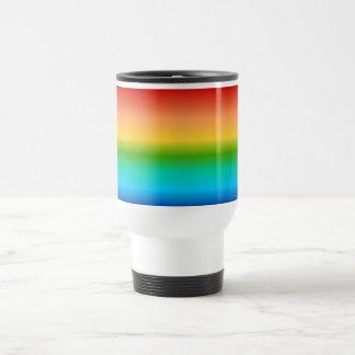 Pendiente colorida del color del arco iris taza