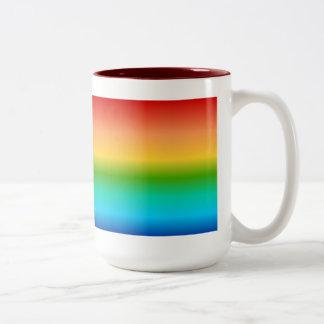 Pendiente colorida del color del arco iris taza de café