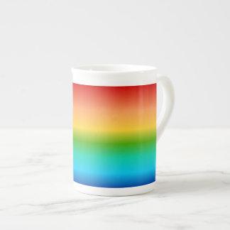 Pendiente colorida del color del arco iris taza de porcelana