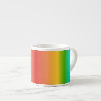 Pendiente colorida del color del arco iris tazitas espresso