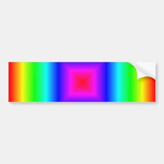 Pendiente cuadrada - arco iris etiqueta de parachoque