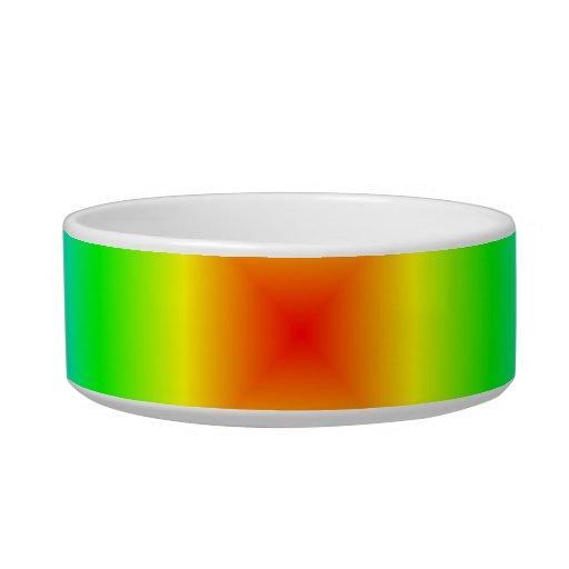 Pendiente cuadrada - arco iris tazón para agua para gatos