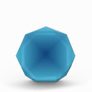 Pendiente cuadrada - azul clara y azul marino