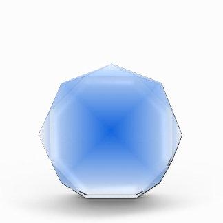 Pendiente cuadrada - blanco y azul