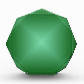 Pendiente cuadrada - verde oscuro y verde clara