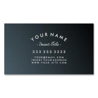 Pendiente curvada elegante del negro del cadete tarjetas de visita magnéticas (paquete de 25)