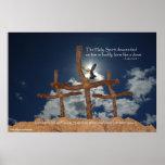Pendiente de 3 cruces del Espíritu Santo Impresiones