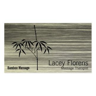 Pendiente de bambú del jardín japonés rasguñada tarjetas de visita