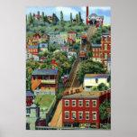 Pendiente de Cincinnati Ohio Mt Adams Posters