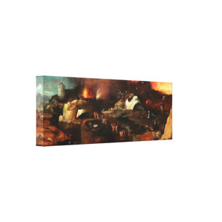 Pendiente de Cristo en infierno de Hieronymus Bosc Lienzo Envuelto Para Galerías