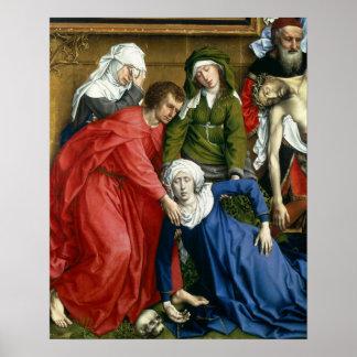 Pendiente de la cruz, c.1435 póster
