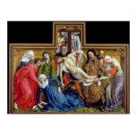Pendiente de la cruz, c.1435 tarjeta postal