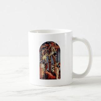 Pendiente de la cruz de Rosso Fiorentino Tazas De Café