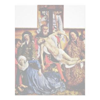 Pendiente de la cruz de Weyden Rogier Van Der Plantilla De Membrete