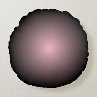 Pendiente de la parte radial del negro y del rosa cojín redondo