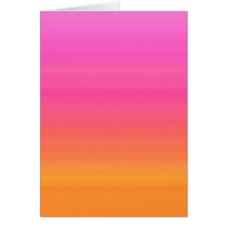 Pendiente de la puesta del sol de la frambuesa - a tarjeta de felicitación