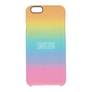 Pendiente de la sombra del arco iris funda clear para iPhone 6/6S