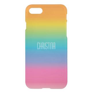 Pendiente de la sombra del arco iris funda para iPhone 7