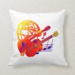 Pendiente de las guitarras del globo almohada
