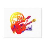 Pendiente de las guitarras del globo impresión en lona