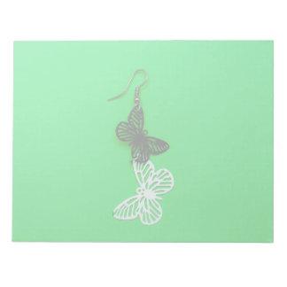 Pendiente de las mariposas bloc de notas