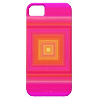 Pendiente de los años 60 - amarillo anaranjado iPhone 5 protector