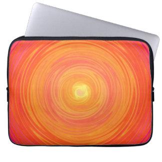 Pendiente de los años 60 - amarillo anaranjado psi fundas computadoras