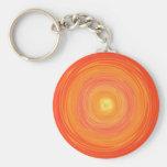 Pendiente de los años 60 - amarillo anaranjado psi llaveros personalizados