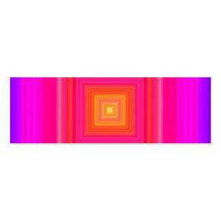 Pendiente de los años 60 - amarillo anaranjado púr tarjeta de visita