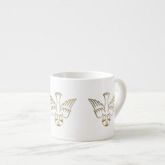 Pendiente de oro del símbolo del Espíritu Santo Taza Espresso