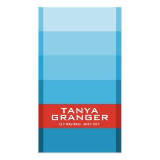 Pendiente de Pantone Swatch - azul Tarjetas De Visita