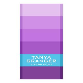 Pendiente de Pantone Swatch - púrpura Tarjetas De Visita