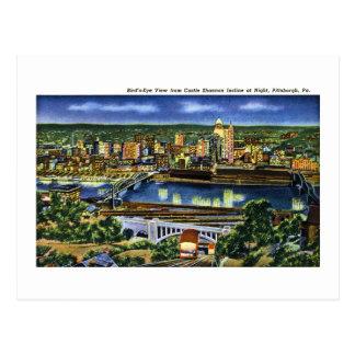 Pendiente de Shannon del castillo, Pittsburgh, PA Tarjetas Postales