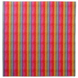 Pendiente del arco iris del brillo servilleta imprimida