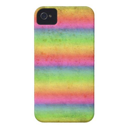 Pendiente del arco iris del Grunge iPhone 4 Coberturas