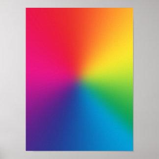 Pendiente del arco iris - plantilla modificada par póster