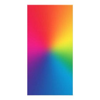 Pendiente del arco iris - plantilla modificada par tarjeta fotográfica