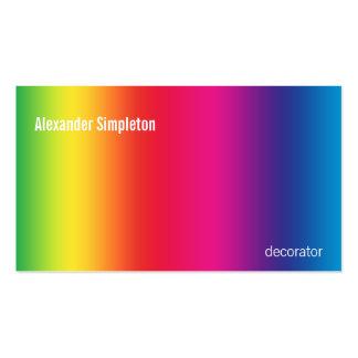 Pendiente del arco iris tarjetas de visita