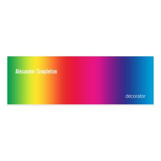 Pendiente del arco iris tarjetas de visita mini
