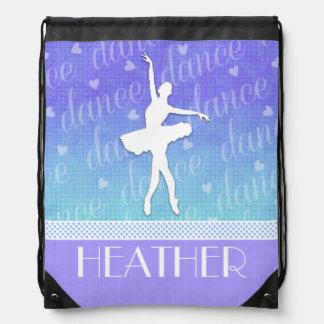 Pendiente del azul - bailarín apasionado de la mochila