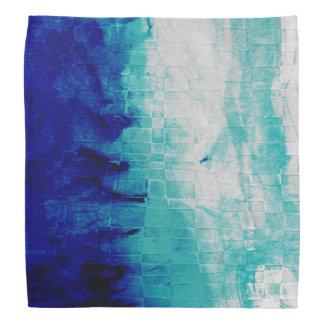 Pendiente del azul de las acuarelas bandanas