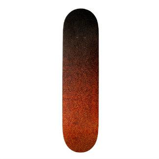 Pendiente del brillo del naranja y del negro de patin personalizado