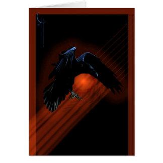 Pendiente del cuervo tarjeta