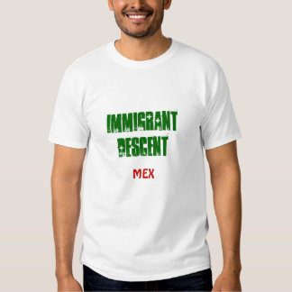 Pendiente del inmigrante de la camiseta de México Playera