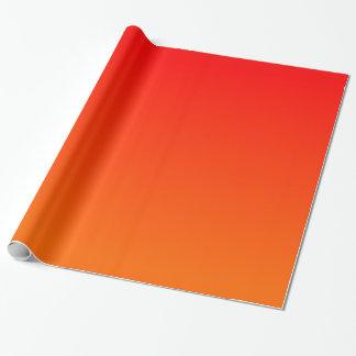 Pendiente del rojo anaranjado papel de regalo