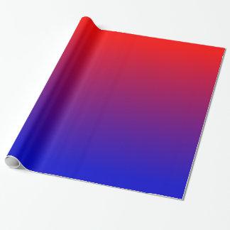 Pendiente del rojo azul papel de regalo