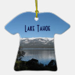 Pendiente, el lago Tahoe del norte Adorno De Navidad