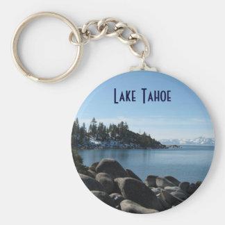 Pendiente el lago Tahoe del norte Llaveros Personalizados