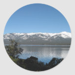Pendiente, el lago Tahoe del norte Pegatina Redonda