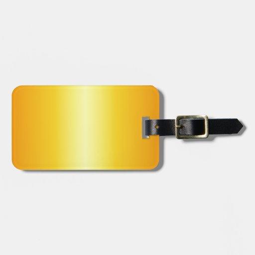 Pendiente eléctrica del amarillo y de la mandarina etiquetas bolsas
